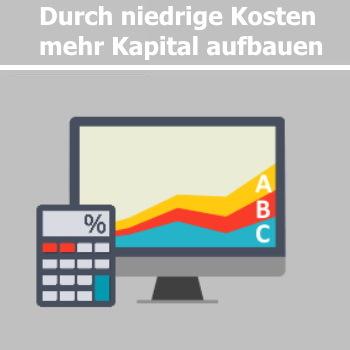Mehr Kapital durch niedrigere Kosten ETF
