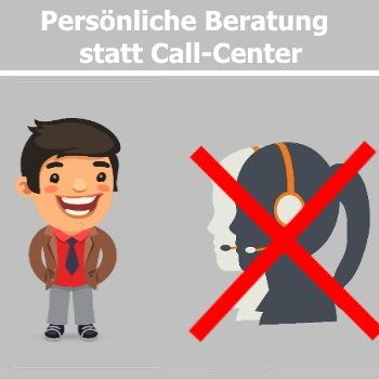 Persönliche Ansprechpartner und kein Call-Center